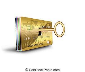 abrir, tarjeta