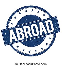 ABROAD stamp sign