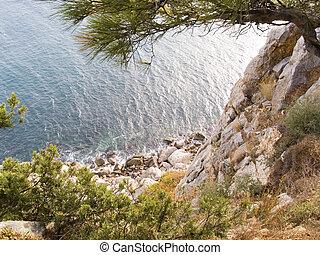 coast of Black sea - Abrupt breakage on a coast of Black sea