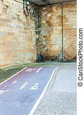 Abrupt end of cycling path in Logrono, Spain