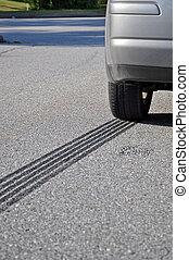 ABS Emergency braking tracks