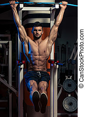 Abs Exercise For Six Pack - Handsome Man Exercising His Abs...