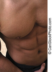 Abs - Close up of male torso