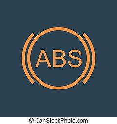 ABS vector illustration - ABS icon. Brakes antilock system...