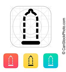 Absent contraception icon. Vector illustration.