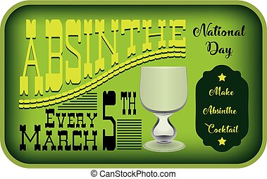 Absinthe Day Label - Vintage label for the day of the ...