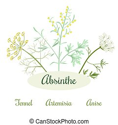 absinthe herbs ingredients - Absinthe ingredients. Grand ...