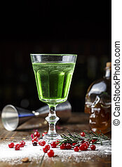 absinthe in a glass
