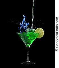 Absinthe on black - Picture about absinthe on a black ...
