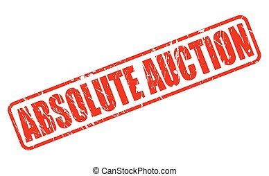 ABSOLUTE AUCTION RED STAMP TEXT