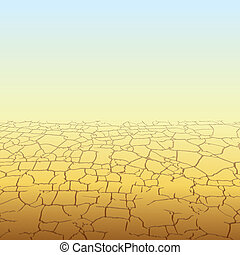 Absolute Desert - Absolute Empty Desert, vector background