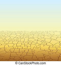 Absolute Desert - Absolute Empty Desert, vector background