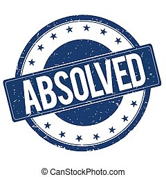 ABSOLVED stamp sign