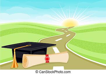 absolvování den
