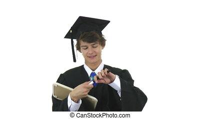 absolwent, powodzenie, znak
