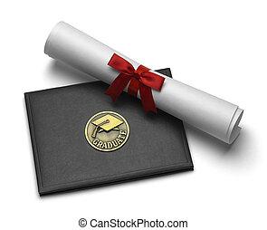 absolwent, woluta, dyplom