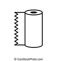 absorbent towels roll line style icon