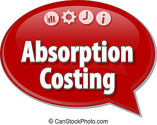 Absorption Costing Business term speech bubble illustration...