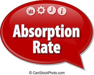 Absorption rate Business term speech bubble illustration - ...