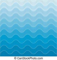 absract, achtergrond, zee, achtergrond, golven