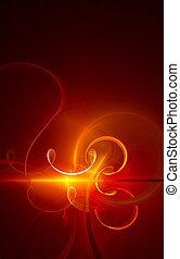absract, -, fractal, ardiente, plano de fondo