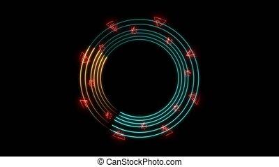absract, ogień, aqua, sześciokąt, pomarańczowe koło, ruch ...