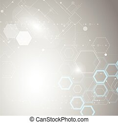 Absract technology and science background. - Abstract...