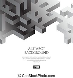 Abstact background in isometric style. The illusion of a ...