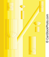 abstact background in yellow - vector background ...