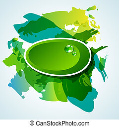 Abstact background - Vector abstract background with green ...