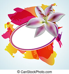 Abstact background - Vector abstract background with lilia ...