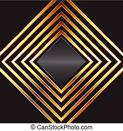 abstact background with gold diamond frames 0709 - Abstract ...