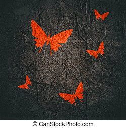 abstact butterflies icons