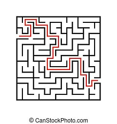 Abstact labyrinth. Game for kids. Puzzle for children. Maze...