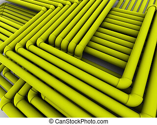 abstact, tubes, communications., 3d