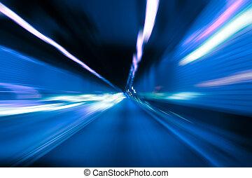 abstarct, ruch, tunel, plama