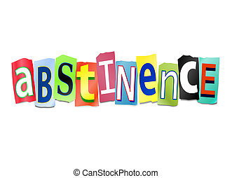 Abstinence concept. - Illustration depicting cutout printed...