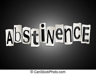 abstinencia, concept.