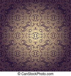 Abstrac seamless flowers baroque background