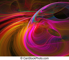 abstracción, ilustración, brillante, plano de fondo, saturno...