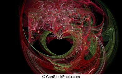 abstrackt - digital abstract background computer made smoke ...