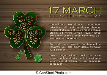 Abstrackt of St.Patrick's Day Background. Card or Banner ...