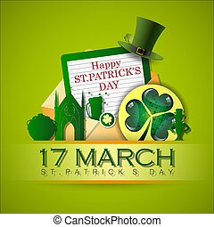 Abstrackt of St.Patrick's Day with St.Patrick's Day Icon ...