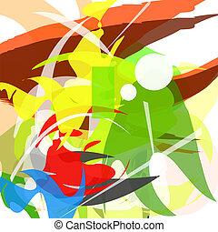 abstract., ベクトル, illustration., カラフルである