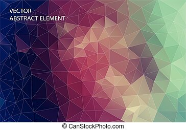 Abstract 2D triangle geometric colorful background. design for web.