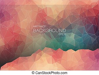 Abstract 2D geometric colorful background. Design for web. -...