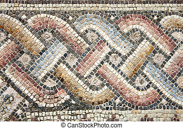 Roman mosaic - Abstract 2nd century Roman mosaic border