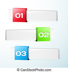 Abstract 3-dimensional Vector Progress background