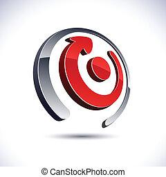 Abstract 3d arrow icon.