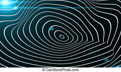 Abstract 3d background with waving lines, organic form, science, technology 3d render backdrop